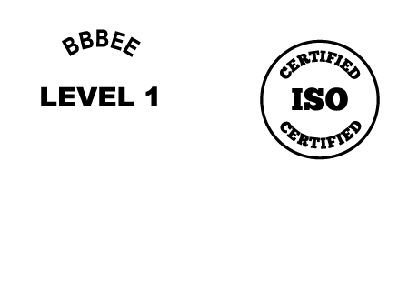 Logos of BBBEE Level 1 certification